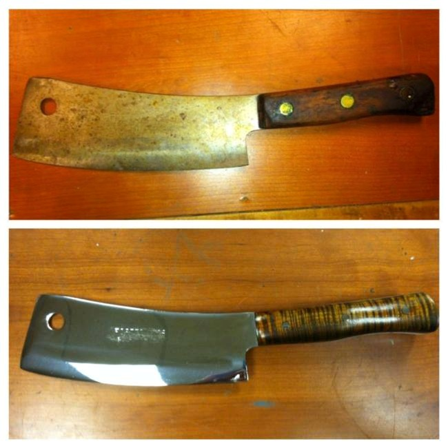 Read more: Meat Cleaver Restored by Vulcan Knife